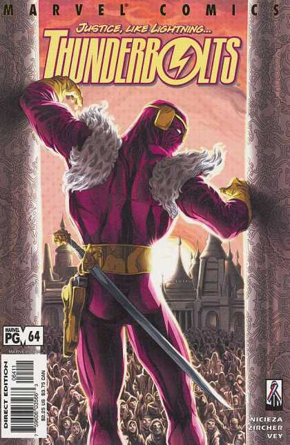 Thunderbolts 64 - Marvel Comics - Justice Like Lightning - Direct Edition - Nicieza - Zircher Vey