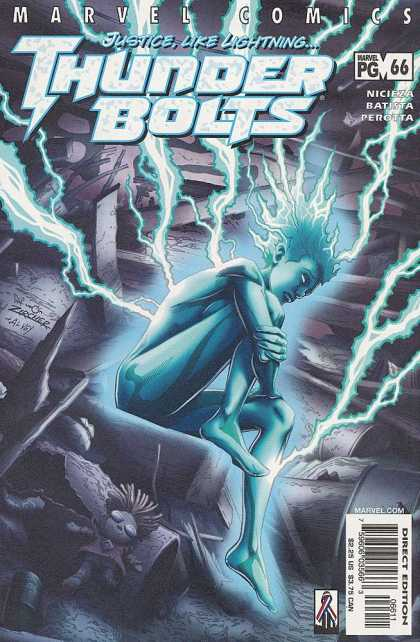 Thunderbolts 66 - Justice Like Lightning - Lightning - Blue - Nicieza - 66