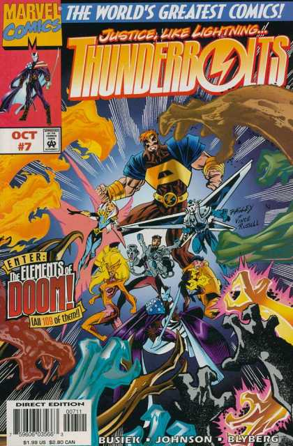 Thunderbolts 7 - Thunderbolts - Marvel Comics - The Elements Of Doom - Busiek - Blyberg - Mark Bagley