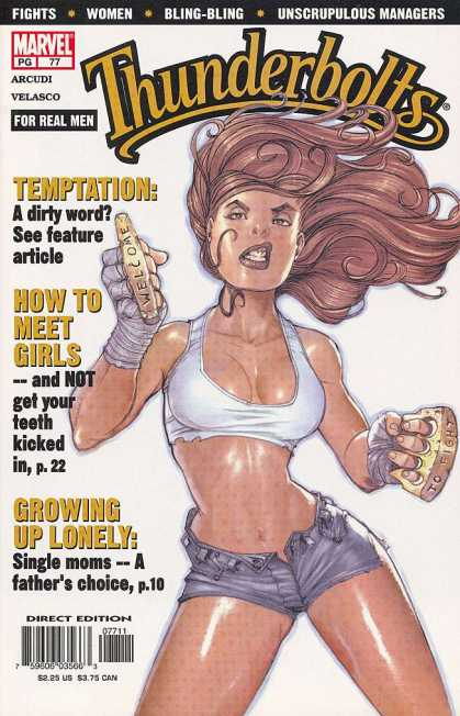 Thunderbolts 77 - Temptation A Dirty Word - Welcome Knuckle Duster - How To Meet Girls - Growing Up Lonely - Bling-bling
