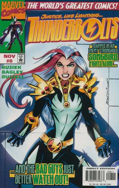 Thunderbolts 8 - Marvel - Comics - Entertainment - Girl - Songbird - Mark Bagley