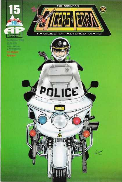 Tigers of Terra 15 - Police - Motorcycle - Helmet - Green - Famile Of Altered Wars
