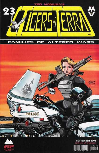 Tigers of Terra 23 - Ted Nomuras - Families Of Altered Wars - Bike - Rifle - Woman