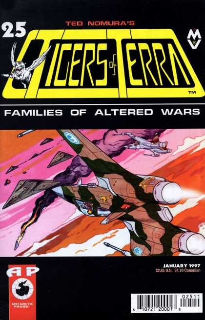 Tigers of Terra 25 - Fighter Jets - Delta Wing Aircraft - Altered Wars - Foe Shot Down - Ted Nomura