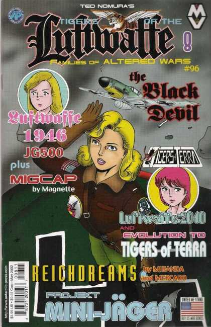 Tigers of the Luftwaffe 8 - Pink Hari - Blonde Hair - Airplane - Wings - Gloves