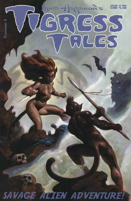 Tigress Tales 1 - Bikini - Savage Alien Adventures - Babe - Brunette - Knife
