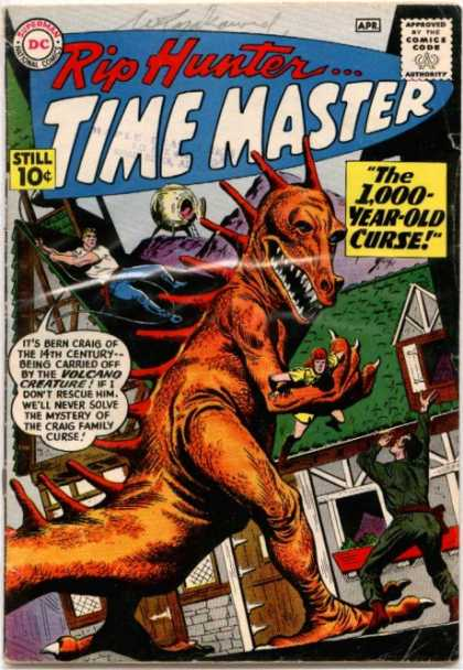Time Master 1 - Rip Hunter - Dinosaur - Claws - Curse - Volcano Creature