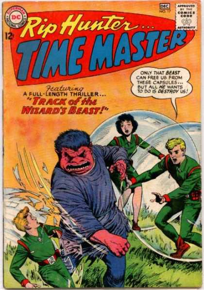 Time Master 17 - Rip Hunter - Tracks Of The Wizards Beast - Bubble - Black Hair - Green Suit