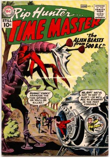 Time Master 2 - Rip Hunter - Time Master - The Alien Beasts From 500 Bc - June No 2 - Claws