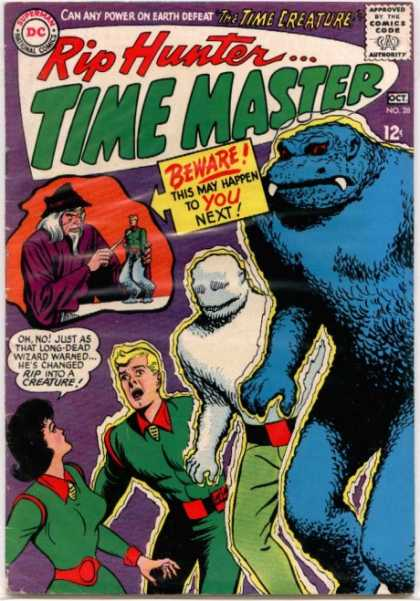 Time Master 28 - Superman National Comics - Approved By The Comics Code - Rip Hunter - Monster - Man