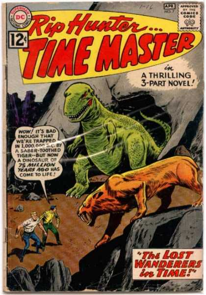 Time Master 7 - Rip Hunter - Dinosaur - The Lost Wanderers In Time - Cave - Thrilling Novel