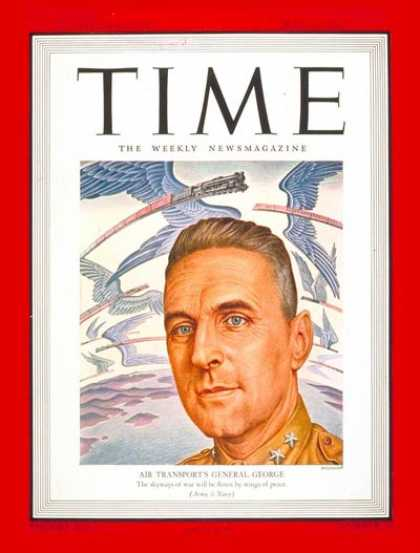 Time - Major General George - May 17, 1943 - World War II - Generals - Military