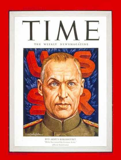 Time - Konstantin Rokossovsky - Aug. 23, 1943 - Russia - Military - World War II