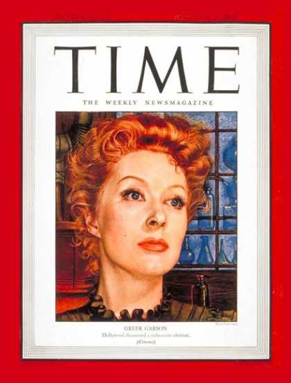 Time - Greer Garson - Dec. 20, 1943 - Actresses - Movies - Broadway