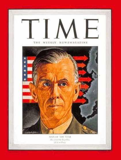 Time - General George Marshall, Man of the Year - Jan. 3, 1944 - George Marshall - Pers