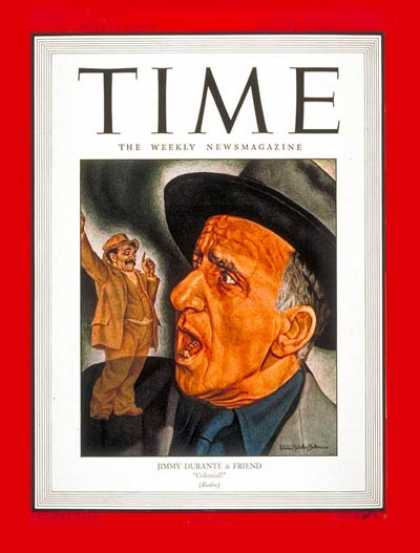 Time - Jimmy Durante - Jan. 24, 1944 - Singers - Movies - Comedy - Music