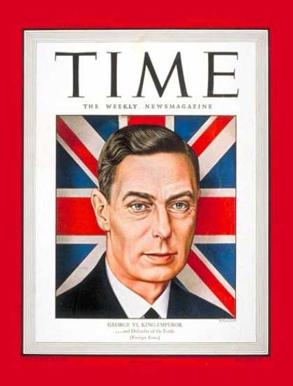 Time - King George VI - Mar. 6, 1944 - Royalty - Great Britain