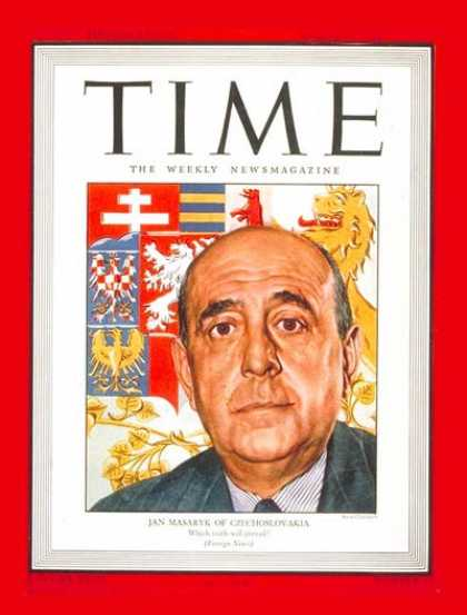 Time - Jan Masaryk - Mar. 27, 1944 - Czechoslovakia