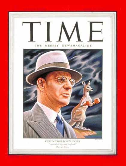 Time - John Curtin - Apr. 24, 1944 - Australia