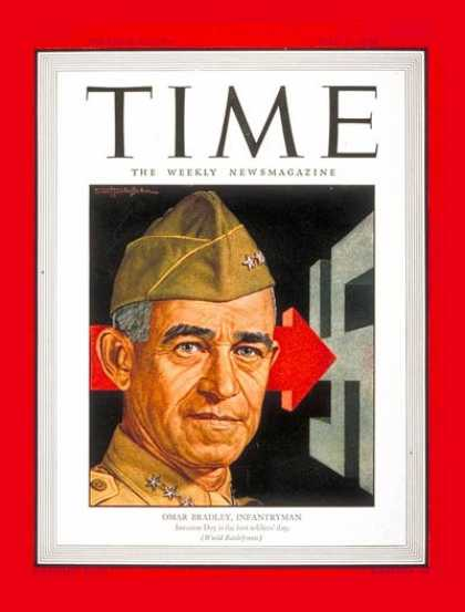 Time - Lt. Gen. Omar Bradley - May 1, 1944 - Omar Bradley - World War II - Military - A