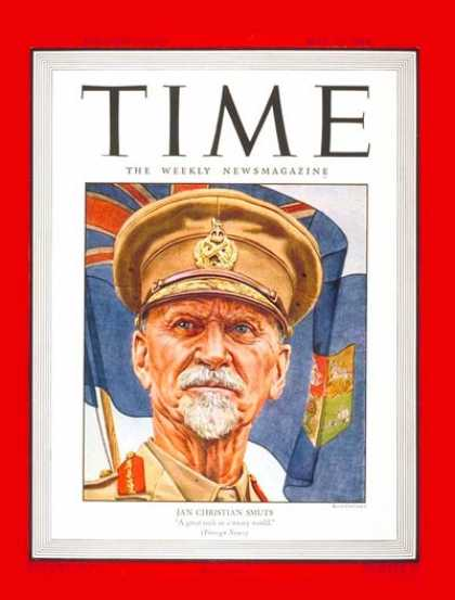 Time - Jan C. Smuts - May 22, 1944 - South Africa - Prime Ministers - Africa