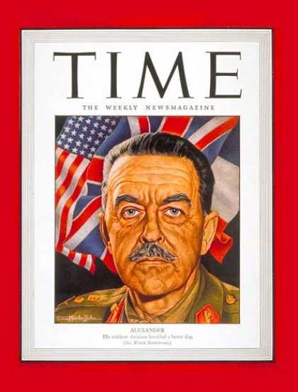 Time - Sir Harold Alexander - June 5, 1944 - Great Britain - Military