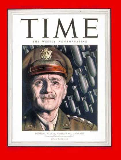 Time - Lt. Gen. Carl Spaatz - June 12, 1944 - World War II - Air Force - Military