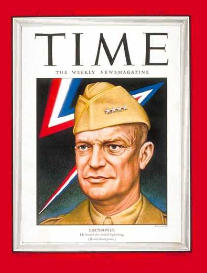 Time - General Dwight Eisenhower - June 19, 1944 - Dwight Eisenhower - D-Day - World Wa