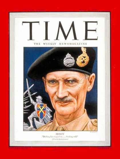 Time - General Montgomery - July 10, 1944 - World War II - Military - Army - Generals