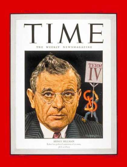 Time - Sidney Hillman - July 24, 1944 - Lithuania - Labor Unions