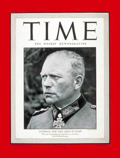 Time - Heinz Guderian - Aug. 7, 1944 - World War II - Germany - Military