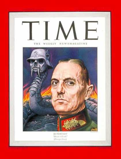 Time - Marshal von Rundstedt - Aug. 21, 1944 - World War II - Germany - Military