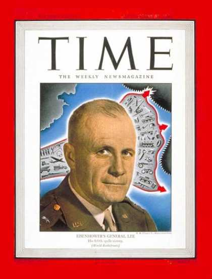 Time - Lt. General Lee - Sep. 25, 1944 - World War II - Army - Generals - Military