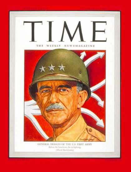 Time - Lt. General Hodges - Oct. 16, 1944 - World War II - Generals - Military