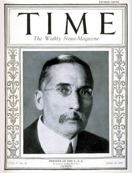 Time - James B. Hertzog - Apr. 27, 1925 - South Africa - Military