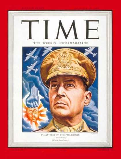 Time - General Douglas MacArthur - Oct. 30, 1944 - Douglas MacArthur - World War II - A
