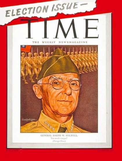 Time - General Joe Stilwell - Nov. 13, 1944 - World War II - Military - Army - Generals