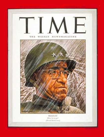 Time - Lt. Gen. Omar Bradley - Dec. 4, 1944 - Omar Bradley - World War II - Military -