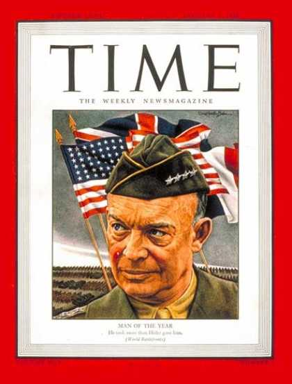 Time - General Dwight Eisenhower, Man of the Year - Jan. 1, 1945 - Dwight Eisenhower -