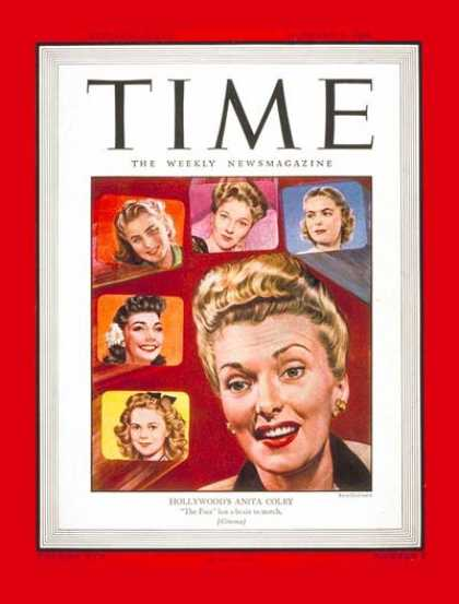 Time - Anita Colby - Jan. 8, 1945 - Shirley Temple - Actresses - Movies