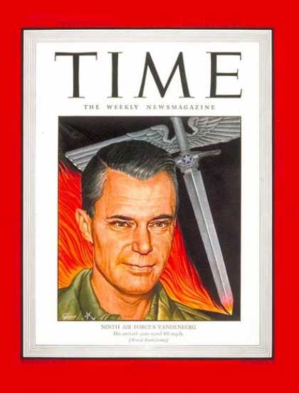Time - Maj. General Vandenberg - Jan. 15, 1945 - World War II - Air Force - Military