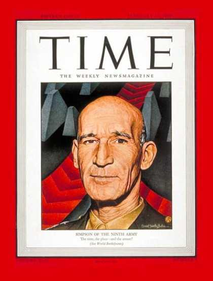 Time - Lt. General Simpson - Feb. 19, 1945 - World War II - Military
