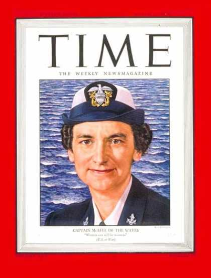 Time - Capt. Mildred McAfee - Mar. 12, 1945 - World War II - Military - Navy