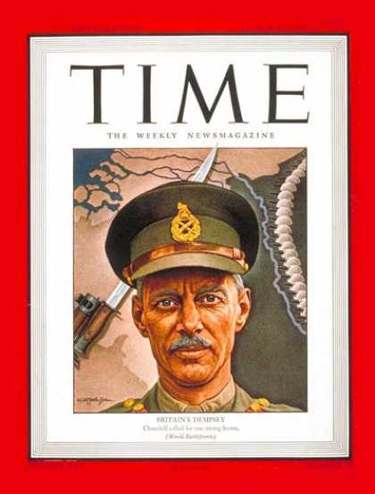 Time - Sir Miles C. Dempsey - Mar. 19, 1945 - Canada - Military
