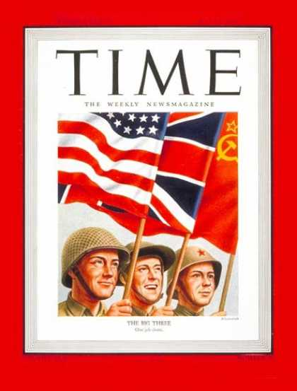 Time - The Big Three - May 14, 1945 - World War II - Russia - Great Britain - Military
