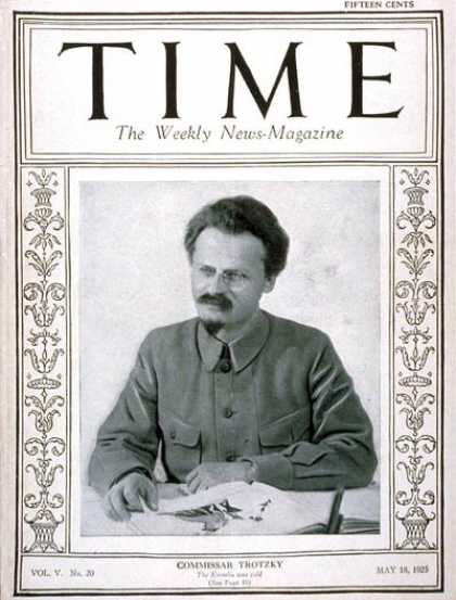 Time - Leon Trotsky - May 18, 1925 - Russia - Revolutionaries