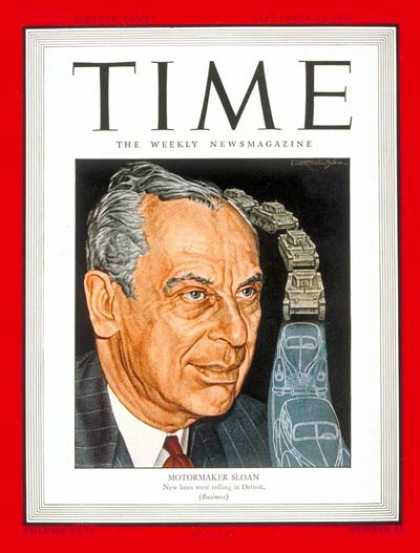 Time - Alfred P. Sloan - Sep. 24, 1945 - General Motors - Cars - Automotive Industry -