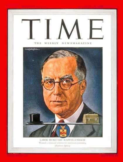 Time - Lewis Schwellenbach - Oct. 15, 1945 - Law