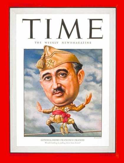 Time - Generalissimo Franco - Mar. 18, 1946 - Francisco Franco - Spain - Military - Wor