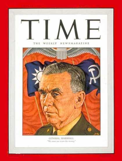 Time - General George C. Marshall - Mar. 25, 1946 - George Marshall - Army - Generals -